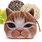 Cat Owl Face Purse Mini Coin Money Bag Zip Wallet Pouch Pocket Makeup Handbag GR