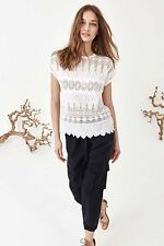 127235 New $566 Ulla Johnson Stella Eyelet Embroidered Lace Cotton Blouse Top S