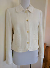 Stunning Escada tweed Jacket in White in size 38/8