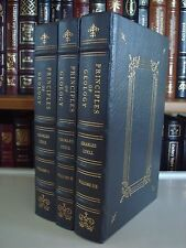 PRINCIPLES OF GEOLOGY Charles Lyell 3Vol Gryphon Leather