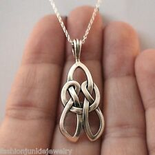 Celtic Knot Love Necklace - 925 Sterling Silver *NEW* Gaelic Irish Love Knot