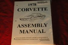 1978 CORVETTE C3 ASSEMBLY MANUAL 100'S OF PAGES OF DETAILS & ILLUSTRATIONS