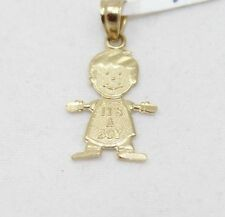 It's a Boy 14k Gold Pendant Real Solid Yellow Gold Children Jewelry