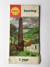 Vintage 1963 Shell Touring Road Map Ireland