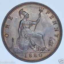 1880 PENNY BRITISH COIN FROM VICTORIA [DIES 9 & L]