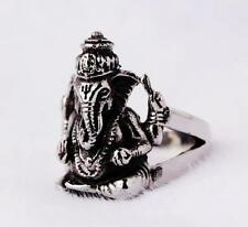 new stainless steel sliver punk style elephant head rings smallsize12