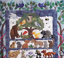 The Critters Quilt - cute animals applique & pieced quilt PATTERN - Brandywine