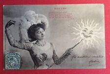 CPA. 1904. SOLEIL D'ÉTÉ. Jeune Femme. Baguette. Bergeret.