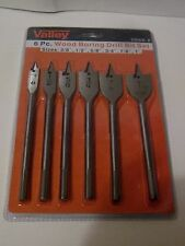 "6 pc 3/8 - 1"" Wood Boring Spade Drill Bit Set  made in the USA"