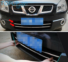 FOR NISSAN QASHQAI 2007 2008 2009 CHROME FRONT BUMPER GRILLE ACCENT TRIM COVER