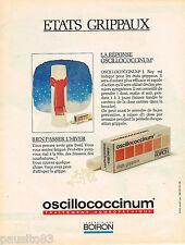 PUBLICITE ADVERTISING 055  1984  LABORATOIRES BOIRON   OSCILLOCOCCINUM