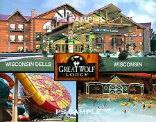 Wisconsin Dells - GREAT WOLF LODGE - Travel Souvenir Fridge Magnet