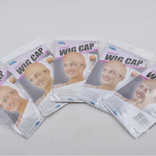 Stocking Wig Liner Cap Snood Nylon Stretch Hair Nets Mesh Nude Color 5pcs/lot