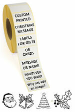 50 x Personalised sticky labels for Christmas. Use them for gifts and/or cards.