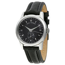 Revue Thommen Black Dial Leather Automatic Mens Watch 12011.2537