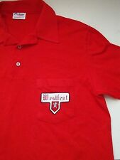 Vintage Westfest West Texas Oktoberfest German Beer Polo 3 Button Thin T Shirt M