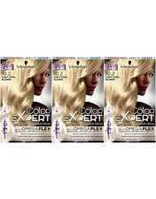 Schwarzkopf Color Expert 10.2 Light Cool Blonde Permanent Hair Dye x3