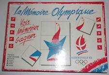 RARE JEU DE SOCIETE LA MEMOIRE OLYMPIQUE ALBERTVILLE 92 / VINTAGE