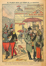 HUMOUR FRANC-MACONNERIE ARMEE GRAND ORIENT GENERAL ANDRE DESSIN BROUSSET 1912