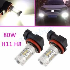 2x 80W H11 H8 Fog Light White FOR Nissan Qashqai X-Trail Rogue Murano J11 T32