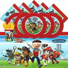 Paw Patrol Puppy Pet Dogs Child's Birthday Complete Party Tableware Pack For 16