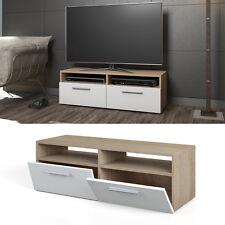 Estantería para TV estante mesa de TV aparador estantería rack sonoma blanco