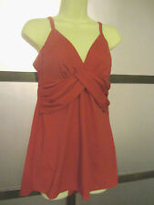 JANTZEN Swimdress Bathing Suit RED Twist Top Sz Small Adorable Chic Pin Up Girl