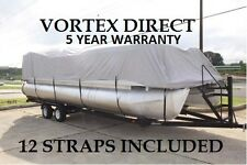 19 20 21 22 FT ULTRA 3 PURPOSE PONTOON BOAT COVER/GRAY