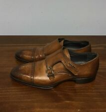 $495 To Boot New York 'Burns' Brown Whiskey Brogue Oxfords-Size 8-