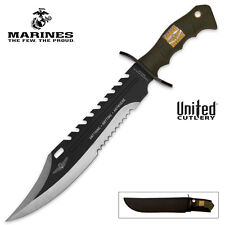 Marine Force Recon Sawback Bowie Knife by United Cutlery UC2863 New