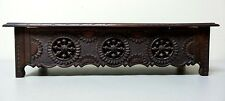 19th C. SALESMAN'S SAMPLE COUNTRY FRENCH CARVED LIFT-TOP BENCH / STORAGE BOX