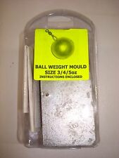 3 / 4 AND 5 OUNCE  BALL WEIGHT MOULD,LEAD MOULDS,WEIGHT MOULDS