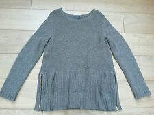 Joules leafield soft grey chunky knit jumper 14. Joules grey sweater jumper top
