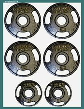 50 lb Olympic Plate Set,Home Exercise Weight Lifting Body Training,2ø,Gold's Gym