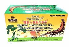 5 Boxes Royal King Ginseng Ginkgo Biloba Tea. (100 Tea bags total)