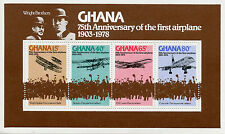 Ghana 1978 MNH Wright Brothers 75th Anniv First Airplane 4v M/S Concorde Biplane