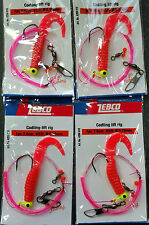 4 x Zebco Codling whiting lift Rig 1 hook Double Rotation Boat Beach Rocks Sea