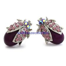 Purple Ladybug Stud Post Earring Charm Fashion Jewelry Gift Girl Women Mom Wife