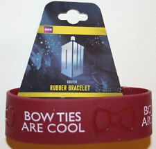 NEW BBC Dr Who Bow Ties are Cool Rubber Bracelet Reddish Color Doctor Bow Tie