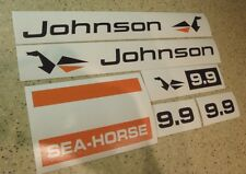 Johnson Sea Horse Outboard Motor Decal Kit 9.9 HP FREE SHIP + FREE Fish Decal!