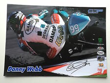 Danny Webb Hand Signed 125cc MotoGP Poster Monster Energy.