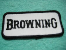 "Vintage Black Browning Gun Patch Patch 3 1/2 "" X 1 5/8"""