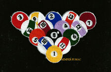 BILLIARD BALLS RACK HAT PATCH LUCKY EIGHT 8TH BALL POOL SPORT PIN UP GIFT QUILT