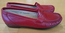 SAS Wink Tripad Comfort Diabetic Moc Red Penny Loafer Womens Size 8 8N NARROW