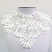 New Lace Embroidered Floral Neckline Neck Collar Trim Clothes Sewing Applique #3