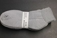 6 Pairs Solid Gray Men's & Women's Ankle Socks Cotton 10-13 Sports Best Socks
