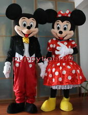 New Professional Mickey and Minnie Mouse Mascot Costume Fancy Dress Adult Size