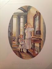 Trisha Romance Print Oval Vignette Easter Bonnets Mother Daughter Church Clothes