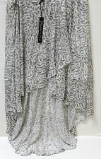NWT Elizabeth and James Ladies Tiered Gray Sandy Skirt  sz M FS