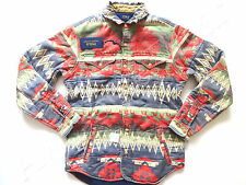 New Ralph Lauren Polo Extra Heavy 100% Cotton Indian Print Work Shirt slim M